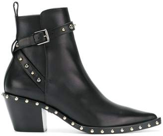 Versace studded ankle boots