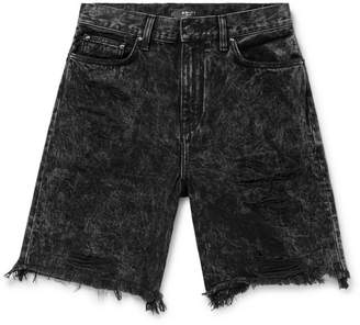 Amiri Thrasher Distressed Acid-Wash Denim Shorts