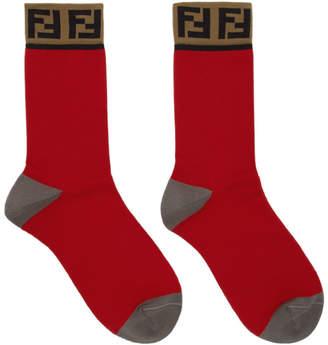 Fendi Red Forever Socks