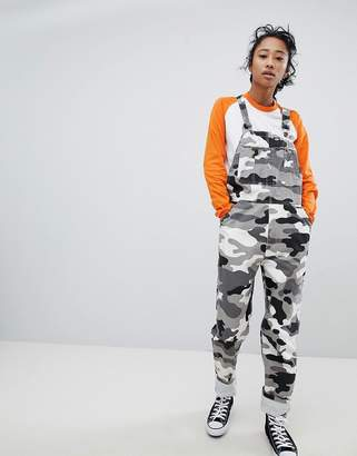 Dickies Dungarees In All Over Camo Print