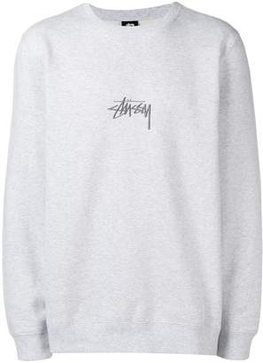 Stussy stock appliqué crew sweatshirt