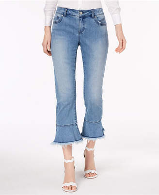 INC International Concepts I.N.C. Flared Cropped Jeans, Created for Macy's