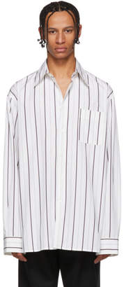 Marni White and Black Stripe Shirt