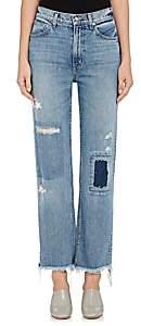 Derek Lam 10 Crosby WOMEN'S LEAH PATCHWORK STRAIGHT JEANS - BLUE SIZE 25