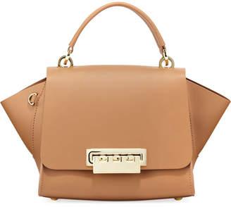 Zac Posen Eartha Leather Top-Handle Crossbody Bag