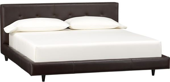 Crate & Barrel Tate Leather King Bed