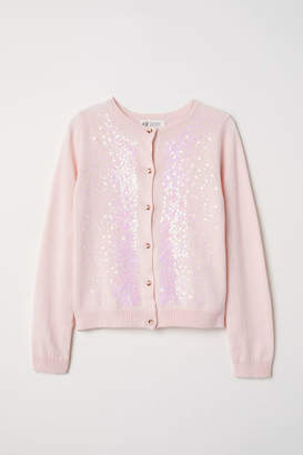 H&M Cardigan with Sequins - Pink