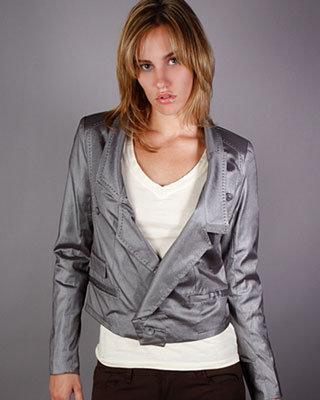 Holy G Boyfriend Jacket in Metallic