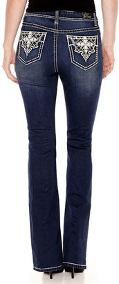 LOVE INDIGO Love Indigo Cross Embellised Back Pocket Bootcut Jean $50 thestylecure.com