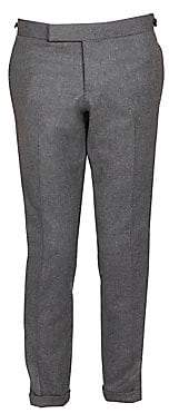 Thom Browne Men's Low-Rise Elastic Stripe Seamed Wool Trousers