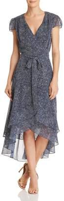 Betsey Johnson Printed Wrap Dress