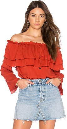 Endless Rose Flared Off The Shoulder Top in Red $70 thestylecure.com