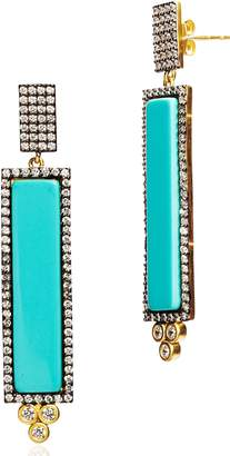 Freida Rothman Color Theory Pave Bar Drop Earrings