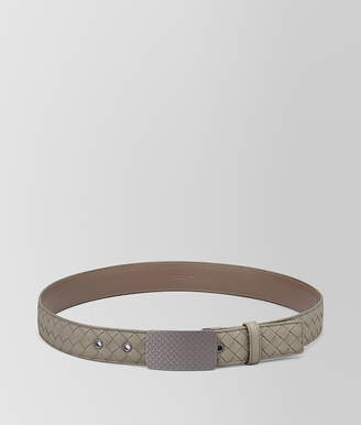 Bottega Veneta DARK CEMENT INTRECCIATO CALF BELT