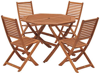John Lewis & Partners Venice 4 Seater Garden Table & Chairs Set, FSC-Certified (Eucalyptus), Natural