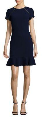 Shoshanna Ruffle Hem Sheath Dress $395 thestylecure.com