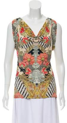 Alexander McQueen Printed Sleeveless Top w/ Tags