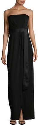 Halston H Strapless Ponte Gown