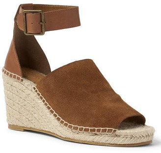 Suede espadrille wedges $64.95 thestylecure.com