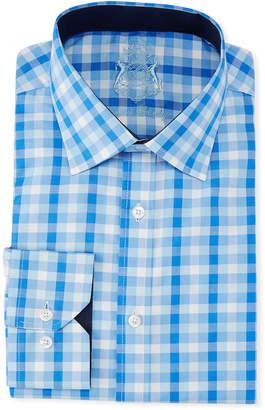 English Laundry Classic-Fit Gingham Dress Shirt, Blue