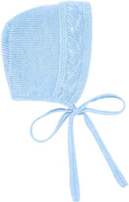 Carrera Pili Cotton-Merino Wool Knit Baby Bonnet