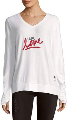 Peace Love World Women's I Am Love V-Neck Sweater
