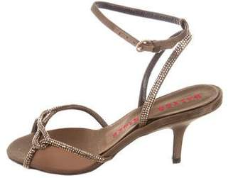 Walter Steiger Embellished Satin Sandals
