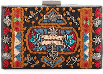 Valentino Ricamo Embroidered Clutch Bag