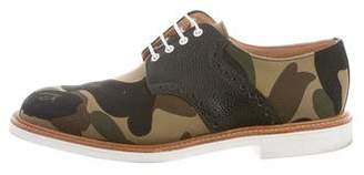 Mark McNairy New Amsterdam Camouflage Leather-Trimmed Derby Shoes