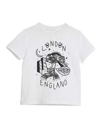 Burberry Boy Graphic Short-Sleeve T-Shirt, Size 4-14