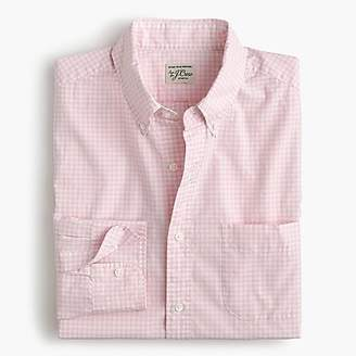 J.Crew Stretch Secret Wash shirt in gingham poplin