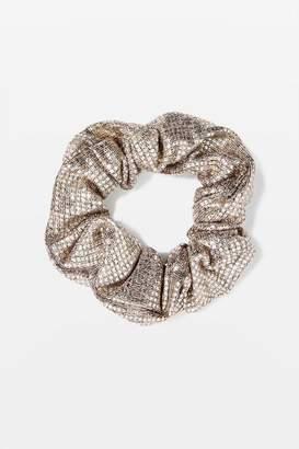 Topshop Silver Scrunchie