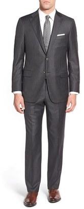 Men's Hickey Freeman 'Beacon B' Classic Fit Windowpane Wool Suit $1,795 thestylecure.com