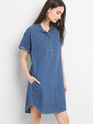 Gap Short Sleeve Denim Pullover Shirtdress