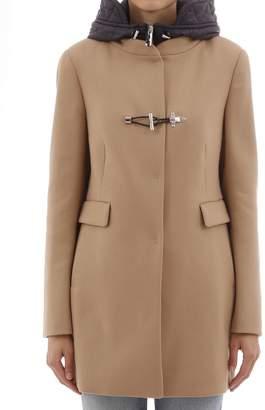 Fay Camel Coat With Hood