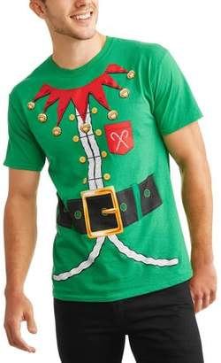 Holiday Elf Suit Graphic T-Shirt, Size 2XL