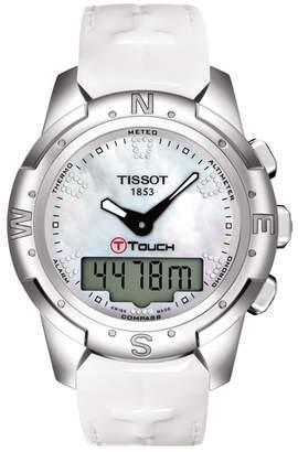 Tissot Women's T-Touch II Leather Watch, 43.3mm