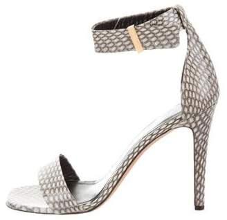 Celine Watersnake Ankle-Strap Sandals