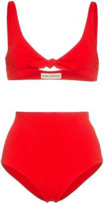 Mara Hoffman rio bow-tie ribbed bikini