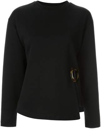 Le Ciel Bleu side-slit fitted sweater