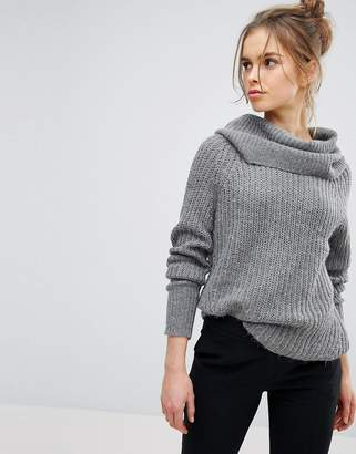 Vila Cowl Neck Knitted Sweater