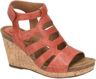 Sofft Courtnee Wedge Leather Sandal
