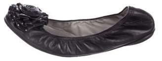 Valentino Embellished Leather Flats