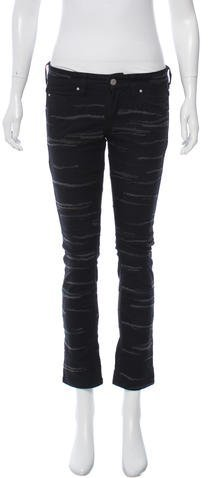 Isabel Marant Isabel Marant Embroidered Straight-Leg Jeans