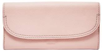 Fossil Cleo Clutch Wallet Dusty Rose