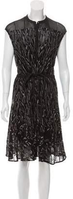 AllSaints Patterned Midi Dress