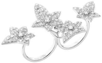 Boucheron White Gold and Diamond Lierre de Paris Double Ring