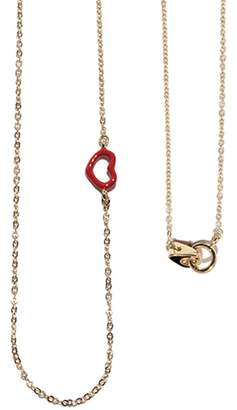 Jordan Askill Red Enamel Heart Necklace