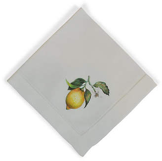 Lemon Dinner Napkin - White - The French Bee