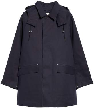MACKINTOSH Waterproof Bonded Cotton Raincoat With Removable Hood